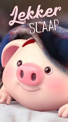 Cute Piglets, Evening Quotes, Pig Illustration, Afrikaanse Quotes, Goeie Nag, Always On My Mind, Good Night Sweet Dreams, Special Quotes, Good Night Quotes