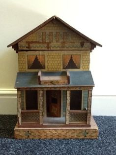 Bliss Antique Dolls House. Very Sweet With Original Papers.  Rick Maccione-Dollhouse Builder www.dollhousemansions.com