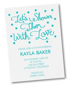 Showered in Love Bridal Shower Invitation