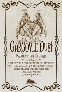 Gargoyle Dust Label by a_granger