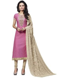 Eye-catching outfit will add a regal touch to your personality.  Item Code : SLHD78013 http://www.bharatplaza.com/new-arrivals/salwar-kameez.html