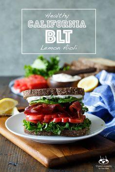 Healthy California BLT with Lemon Aioli, Turkey Bacon, Avocado, and ...