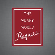 The Weary World Rejoices Art Print by DulyNotedDesign on Etsy    Christmas, Christmas print, Jesus