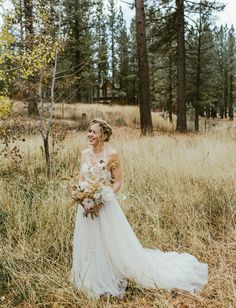 BHLDN Wedding Dress // modern forest wedding