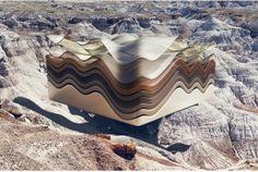 Fascinated by the desert landscape of Arizona, photographer Ben Sandler and Zeitguised studio imagined Badlands series offering a surreal render, mixing photogr Badlands Series, Arizona, Desert Art, Installation Art, Amazing Photography, Surrealism, Illustrators, Deserts, Tumblr