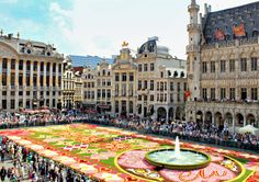 Grand Place with Flower Carpet  Brussels, Belgium
