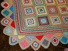 Granny Squares as edging by Crochet with Tamara on flickr.com, inspiration.