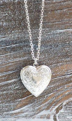 Silver HEART LOCKET Pendant Silver Wedding