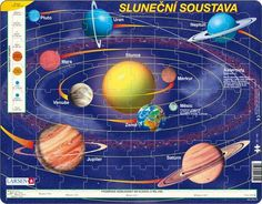 The Solar System Jigsaw Puzzle By Larsen Solar System, Mars, Venus, Easter Eggs, Montessori, Jigsaw Puzzles, Teaching, Creative, Bookmarks