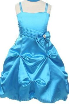 Square Satin Fitted Bow Trimed Perfect Designer Customized Girls Party Dress