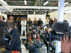 Another angle of the Lotus-garage during race - 2013 Australian GP