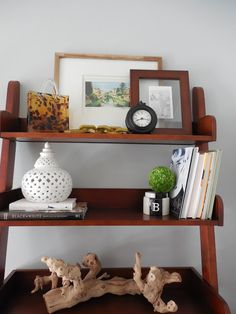 Amber B Interiors, family room, shelf styling, family heirlooms, True Value Hardware pin it to win it challenge