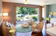 Amazing Natural Living Room Design, bring some natural design idea to your living room, and how to apply to your room. Make your own beautiful amazing living room. Indoor Wicker Furniture, Used Outdoor Furniture, Home Furniture, Modern Furniture, Furniture Design, Rattan Chairs, Furniture Ideas, Deck Chairs, Furniture Layout