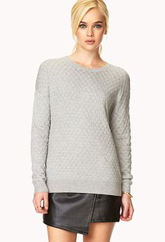 Modernist Quilted Sweater | FOREVER21 - 2000070341 $19.80