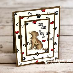 CARD CLASS & VIDEO Today's card class and video is for the animal lovers in your life. The new Stampin' Up! Cat Cards, Kids Cards, Dog Cards Handmade, Handmade Rugs, Handmade Crafts, Origami, Craft App, Pet Sympathy Cards, Stamping Up Cards