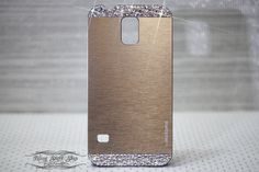 Beige Aluminium Brushed Samsung Galaxy S5 case w by blingstuffshop, $20.00