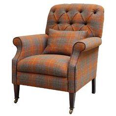 Buy Harris Tweed Country Armchair, Summer Check   John Lewis