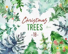 Watercolor Clipart - Buy Now Christmas Trees. Watercolor Images, Watercolor Cards, Floral Watercolor, Watercolor Painting, Watercolors, Watercolor Tutorials, Clipart Noel, Tree Clipart, Christmas Projects