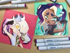 Splatoon 2 Pearl and Marina by @actionhankbeard