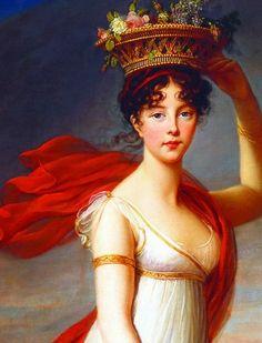 Julie Nigris as Flora, Roman Goddess of Flowers (detail) by Louise Élisabeth Vigée Le Brun, 1799