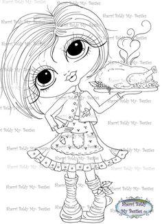 INSTANT DOWNLOAD Digital Digi Stamps Big Eye Big Head Dolls Digi Made With Love Besties  By Sherri Baldy