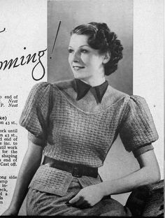 A Library of FREE Vintage Knitting & Sewing Patterns
