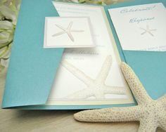 blue beach wedding invitation ideas, i love this a lot, the most elegant invitations for beach brides.     Pick beach wedding dress at http://www.boncyboutique.com/beach-destination-wedding-dresses?utm_source=pinterest_shi_medium=sns.