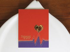 Thinking stitched card