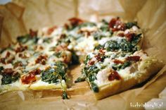 Tarta z kurczakiem, szpinakiem i suszonymi pomidorami skradnie Wam podniebienie! Zachęcam do przygotowania tego przepisu! Aga, Vegetable Pizza, Mashed Potatoes, Meal Prep, Vegetarian Recipes, Quiche, Good Food, Meals, Vegetables