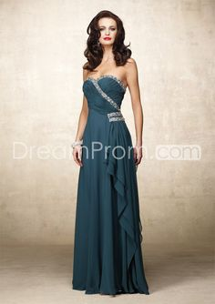 Fantastic Ruffles Beaded Sheath Strapless Floor-Length Mother of the Bride Dresses