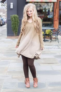 Casual Ombre Dress- Olive Ombre Tunic- $38- Juliana's Boutique