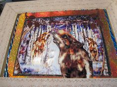 SPIRIT WOLVES of the Woods Original WOLF Art Dimensional Layered One of A Kind Artwork by Stone Painters Spirit of the Wolf Southwest Art by StonePainters on Etsy