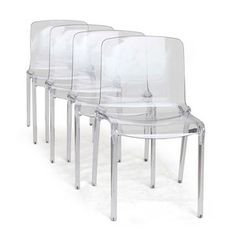 Cristallo Chair Clear Set Of 4 now featured on Fab.