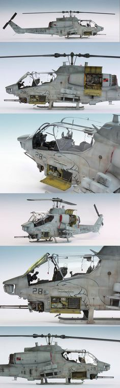 Bell AH-1 Super Cobra, ACADEMY 1/35 scale. By Arkady72. USMC Attack helicopter.  #helicopter #chopper #scale_model http://www.britmodeller.com/forums/index.php?/topic/234946373-ah-1w-super-cobra-academy-135/
