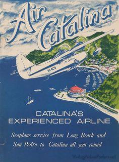 AIR CATALINA (USA) Vintage travel posters - Catalina USA