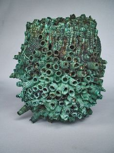 John Mawhinney, ceramic form, Copper glaze treated with hydrochloric acid, Northern Rivers Visual Arts Network, Australia (website not active)