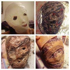 Silent hill nurse mask tutorial materials you need 2 rolls of my silent hill nurses mask in progress diy halloween costumeshalloween solutioingenieria Gallery