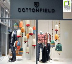 Jackpot Cottonfield window display - Love the idea of using buoys