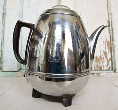 Vintage GE Coffee Percolator Pot Belly Chrome 1950's I think this is what I have