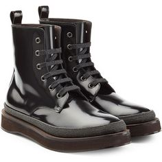 Brunello Cucinelli Patent Leather Ankle Boots