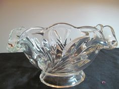 Vintage Indiana Glass clear glass 11 inch by FredsDiscoveries, $29.95