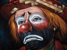 Emmett Kelly the world's most famous clown Es Der Clown, Le Clown, Clown Faces, Circus Clown, Creepy Clown, Sad Faces, Clown Mask, Creepy Circus, Circus Art