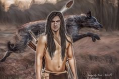 """Indian standing at the edge of the trees, bow in hand.  It occurred to him, dimly, to look for the wolf It was nosing at the pig's carcass, no more than a few feet from Jamie, but his father-in-law was paying it no mind at all. He too was staring at the Indian.(…)