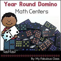 Math Centers with Dominos Kindergarten Math Games, Math 8, Guided Math, First Grade Math, Teaching Math, Grade 1, Teaching Ideas, Number Sense Activities, Subtraction Activities