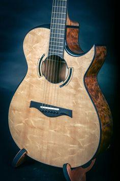 "Beauregard Bearclaw Sitka Spruce and ""The Tree"" Mahogany Archtop Guitar, Acoustic Guitars, Guitar Painting, Guitar Building, Beautiful Guitars, Guitar Design, Custom Guitars, Classical Guitar, Mandolin"
