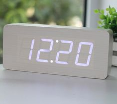 Wood Grain LED Alarm Clock - http://thegadgetflow.com/portfolio/wood-grain-led-alarm-clock/