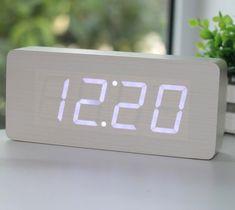 Wood Grain LED Alarm Clock - http://thegadgetflow.com/portfolio/wood-grain-led-alarm-clock/