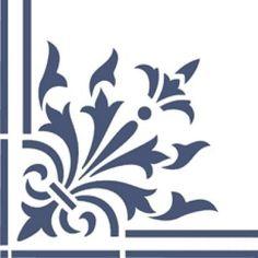Plantillas decorativas, estarcido, stencil... (pág. 79) | Aprender manualidades es facilisimo.com Laser Cut Panels, Laser Cut Metal, Damask Stencil, Stencil Patterns, Etched Glass Door, Photography Studio Background, Corner Designs, Meaningful Tattoos, Silhouette Design