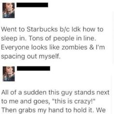 Faced with the prospect of any frappuccino, anyone would do the same. #story #coffee #tweets Grumpy Cat Humor, Funny Cat Memes, Wtf Funny, Funny Tweets, Hilarious, Memes Humor, Funny Humor, Owl City, Starbucks