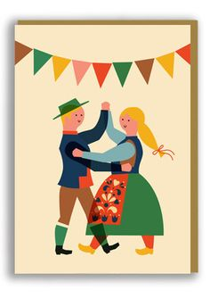 Anna Kövecses Folk Dance Greetings Card